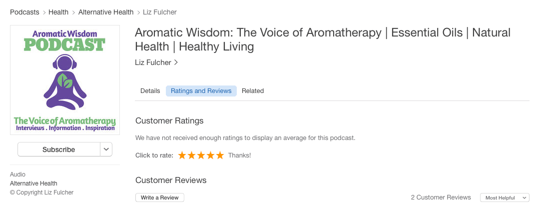 aromatic-wisdom-podcast-itunes-stars