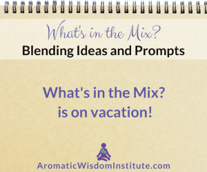 What's in the Mix? is on Vacation!