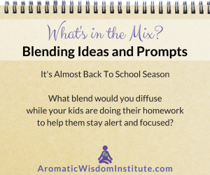 What's in the Mix Wednesday: A Back-to-School Study Blend